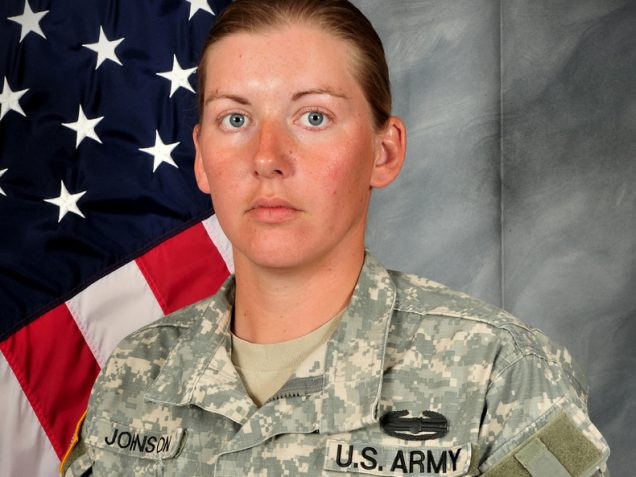 <b>Donna Johnson</b> was killed on Oct. 1, 2012, while on patrol in Khost - donnajohnson-1a18fe006a54bd67a2b93a3b51aa5f7d97996bc8-s1200-636x477